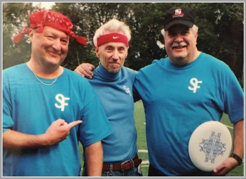 Dan Buckley, Alan Jolley and Ed Davis, at a Staples Ultimate Frisbee reunion several years ago.