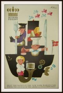 A poster touting the Denmark Pavilion.