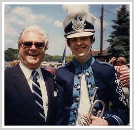 Jack Adams with Jonathan Owens, after the 1986 Memorial Day parade.