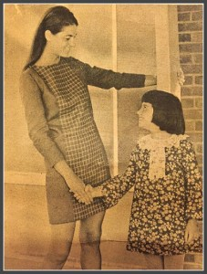 Lori  Yanell and her mother pose for a Westport News ad, around 1966.