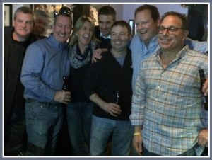 Jimmy Izzo (4th from right), and a few of his many close  friends.