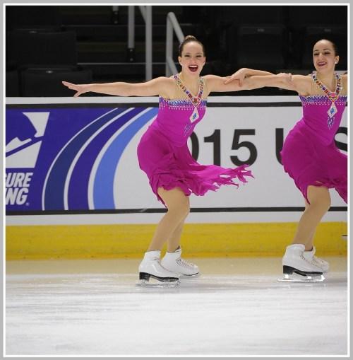 Katie Orlin (left) in action.
