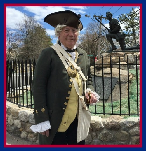 Minute Man with Son of American Revolution