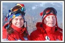 Ann Karrick and Don, on the slopes.