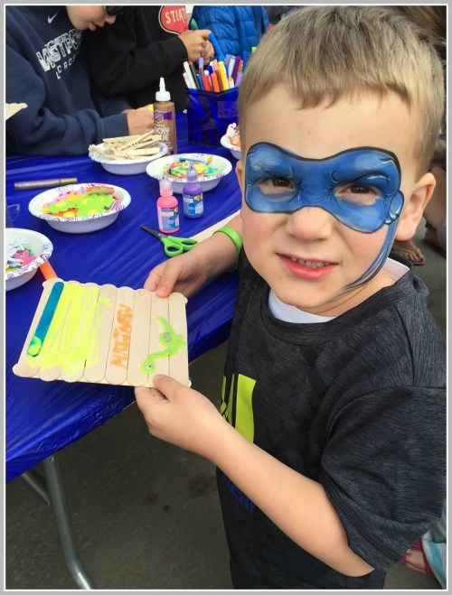 This young man may be trying out for Art About Town -- the 2035 version.