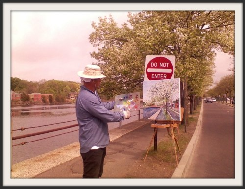 Artist downtown - Fred Cantor