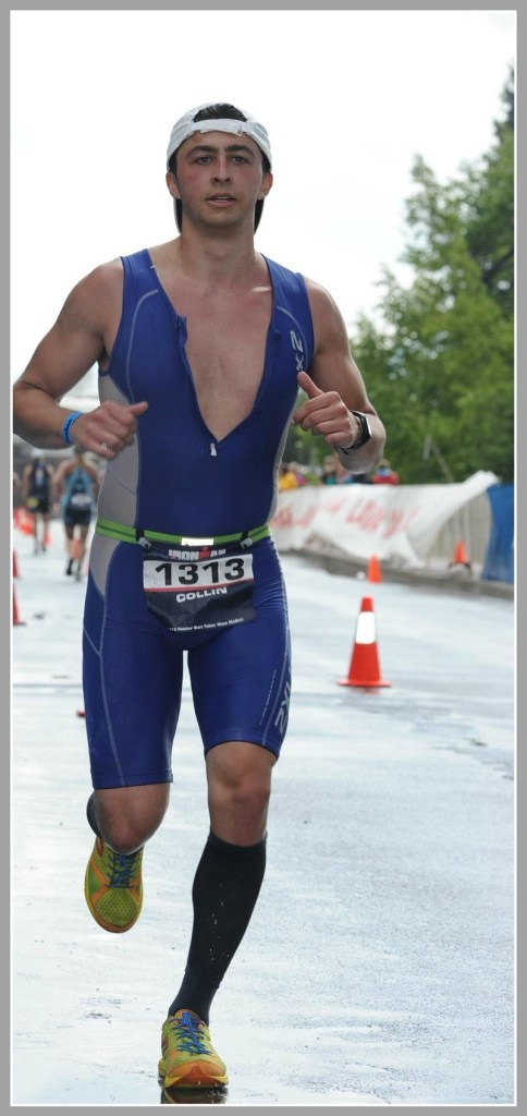 Collin Carroll competes in the Lake Placid Ironman.