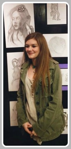 Molly Procter, surrounded by her art.