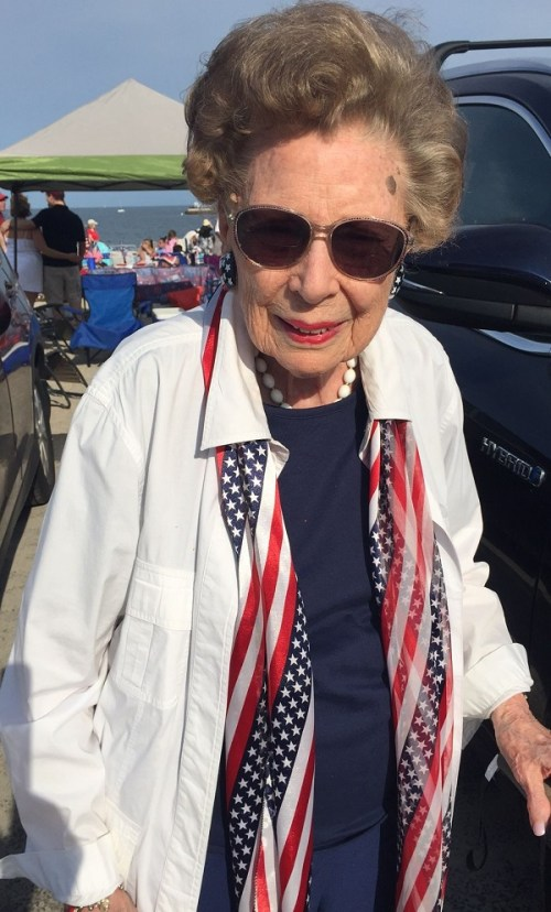 Connie Anstett is 93 years old. She remembers when the fireworks were shot off by the cannons -- and kids watched from the tops of their parents' station wagons.