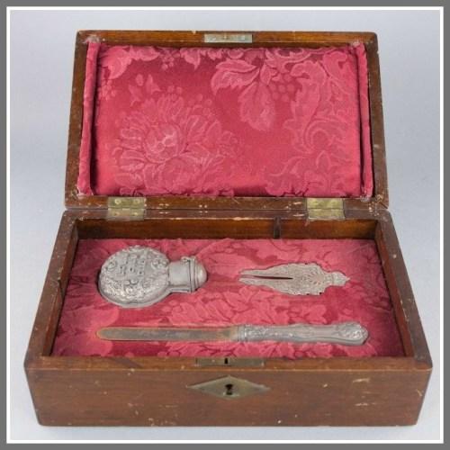 Continental silver circumcision set.