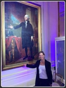 Cathy Utz and George Washington.