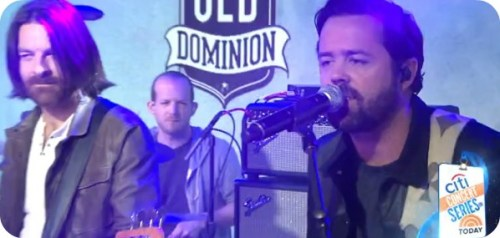 "Brad Tursi (right) with Old Dominion, on this morning's ""Today Show."""