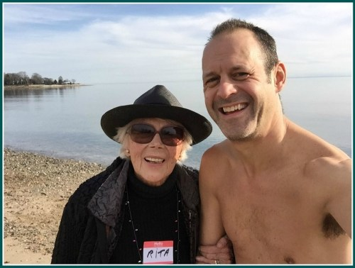 Meanwhile, over at Burying Hill Beach, Nicholas Eisenberger met Rita, one of the original High Tide girls. She's been swimming there since 1965. She didn't go in -- but he said the water's fine!