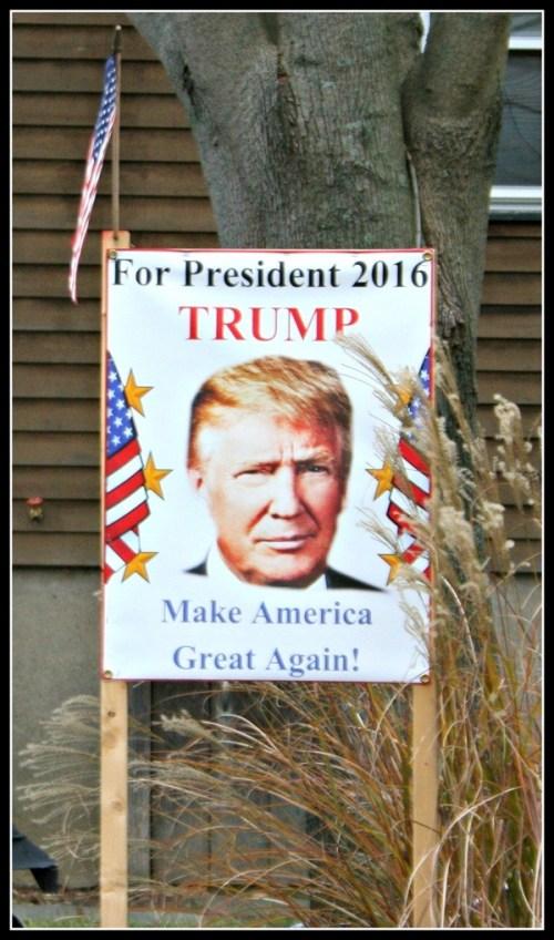 Trump sign - Saugatuck Avenue