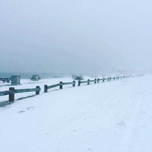 No picnics today on South Beach! (Photo/Briana Walegir)