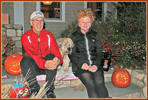 Rick and Maryanne Shelman love the neighborhood aspect of Compo Beach. They also don't mind 1500 trick-or-treaters -- many from outside the neighborhood, drawn by the denseness -- every Halloween.