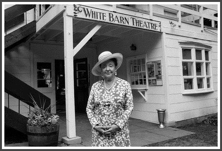 Lucille Lortel, outside her White Barn Theatre.