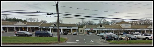 Most of the trees planted in the 1970s by 606 Post Road East have been removed. (Photo/Google Street View)