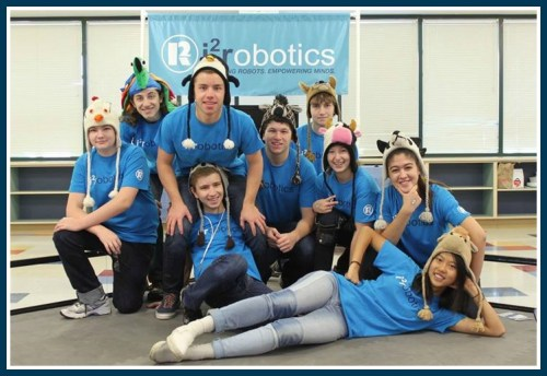 The i2 robotics team. They're not usually so serious.
