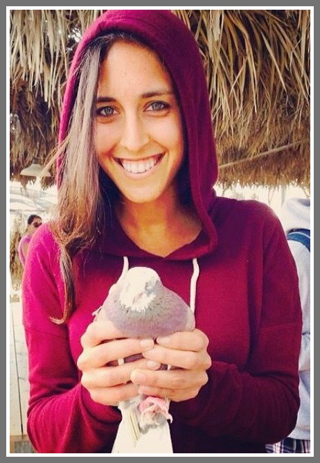 Paloma Aelyon -- and a dove.