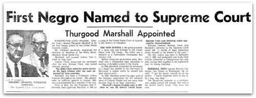 More than 2 decades before he became a Supreme Court justice, Thurgood Marshall handled an explosive case in Bridgeport.