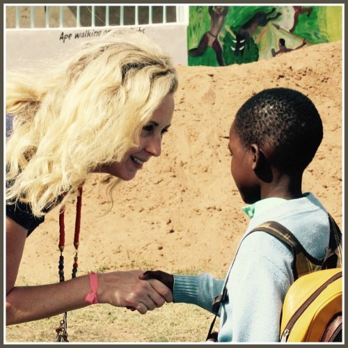 Anne Wells, with a Tanzanian friend.