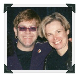 Elton John and Cindy Bullens.