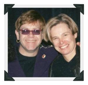 Elton John and Cindy Bullens.