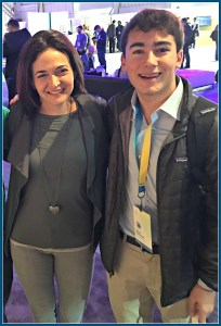 Dylan Diamond, with Facebook COO Sheryl Sandberg.
