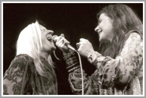 Edgar Winter and Janis Joplin (Photo/Michael Friedman)