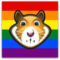 XHamster's new pro-LGBT rights logo.