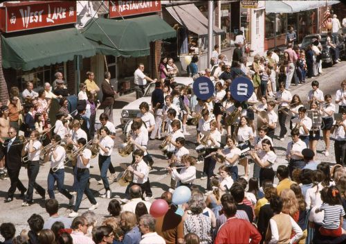 Staples High School band. In 1971, Main Street was open to 2-way traffic.