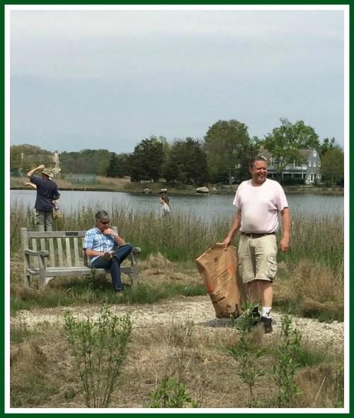 Sherwood Mill Pond clean-up - Carol Swan