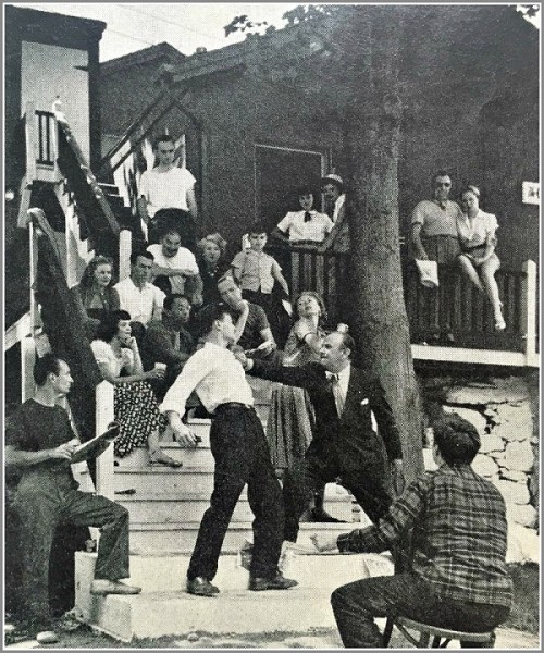 "According to the caption, ""The Westport Country Playhouse gives better than average plays, including tryouts of Broadway-bound shows."" This was a rehearsal of ""The Time of Your Life."""