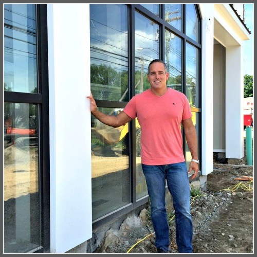 Jason Garelick, outside the soon-to-be-open Garelick & Herbs on the Post Road, just over the Southport line.