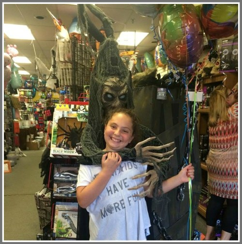 Before Halloween last year, a Party Harty customer posed with the Haunted Tree Man.
