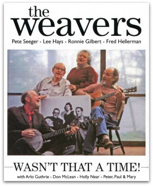 The Weavers in 1980. Fred Hellerman is at right.