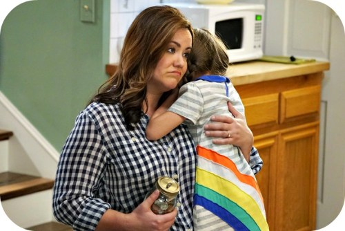 Katy Mixon and Julia Butters, in