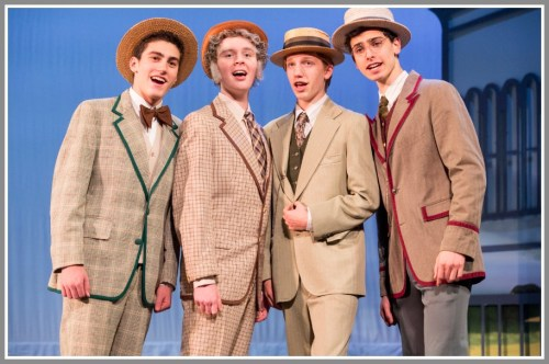 The RIver City quartet: ax Herman (Staples, '19), Christopher Hoile (Staples, '18), Tobey Patton (Staples, '20) and Oliver Smith (Staples, '17).