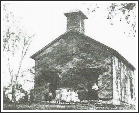 The Cross Highway District School (above) was built in 1878.
