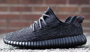 Gary's Yeezy 350 Boost sneakers.
