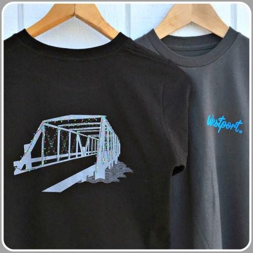 Townee's sparkling Saugatuck Bridge t-shirt.