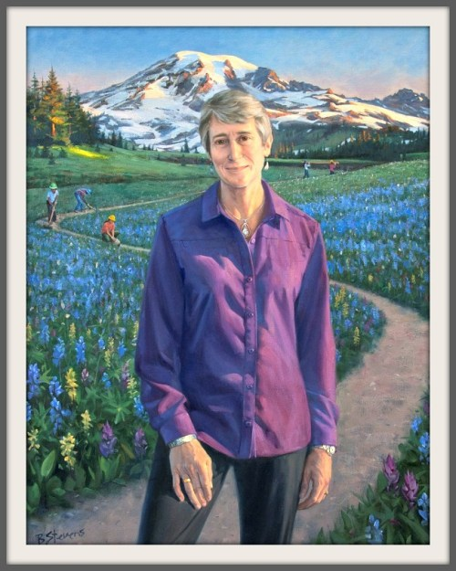 Sally Jewell's official portrait, by Bradley Stevens.