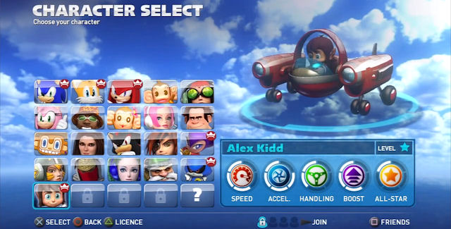 Sonic All Stars Racing Transformed 3ds Characters