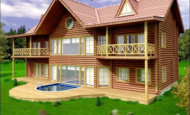 Desain Rumah Kayu The Reagan Dari Kayu Jati