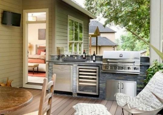 Desain Dapur Terbuka Di Belakang Rumah Modern