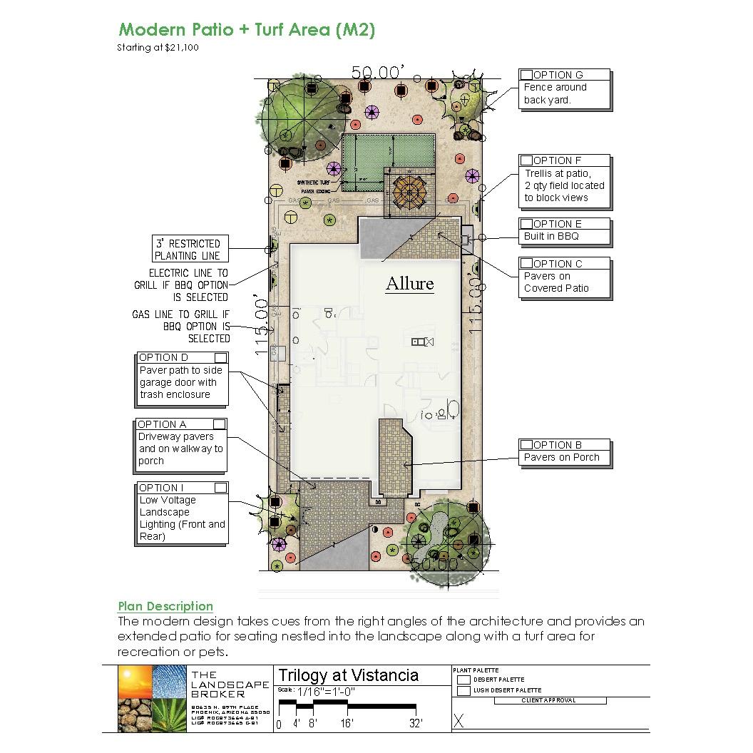 Allure, Modern Patio + Turf Area (M2)