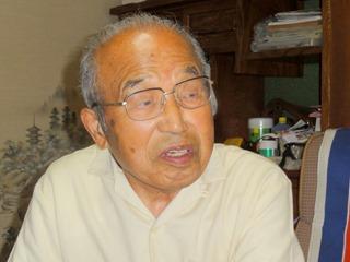 因島原爆被害者友の会の会長村上秀雄さん