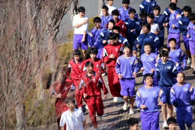因島高校瀬戸田高校合同マラソン大会