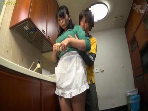 ぽっちゃり系巨乳人妻が料理中に義息にエッチな悪戯をされるひとずまあだ